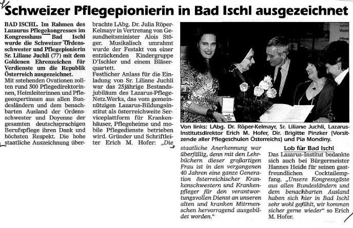 Pressebericht Bad Ischler Woche - 15. Mai 2010