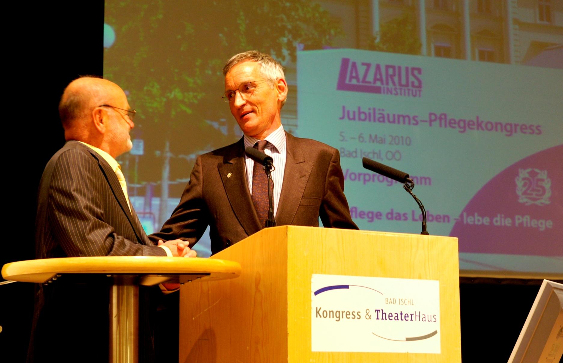 Der Kongress gratulierte Prof. Erwin Böhm zum 70. Geburtstag
