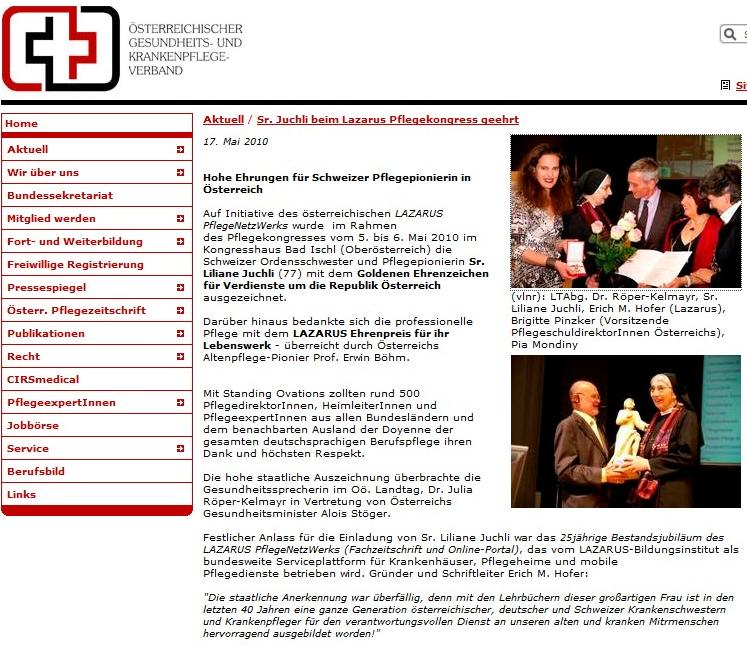 Online-Bericht ÖGKV - 17. Mai 2010